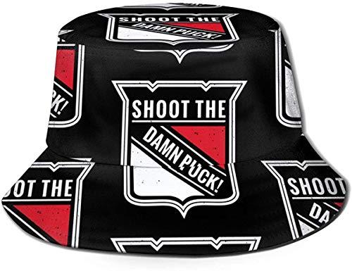 Trushop Unisex Shoot The Damn Puck! Eimer Hut Sonnenhut gedruckt Fisherman Packable Travel Hat Mode Outdoor Hut