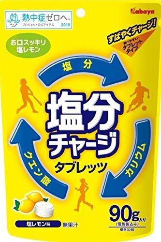 カバヤ食品 塩分チャージタブレッツ 塩レモン 90g×48袋