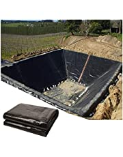 LJIANW Pond Liner, 20 Mil Pond Skins Black HDPE Waterproof Tear Resistance for Waterfall, Fish Ponds, Garden Fountain, 37Sizes (Color : Black, Size : 1x6m)