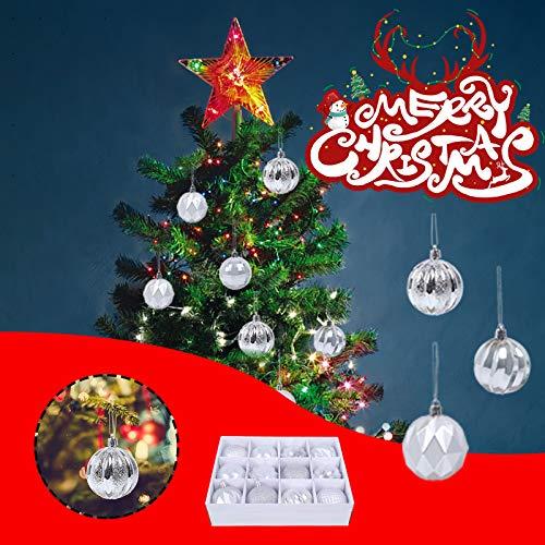 12PCS Christmas Ball Baubles Party Xmas Tree Decorations Hanging Ornament Decor Home & Garden Home Decor