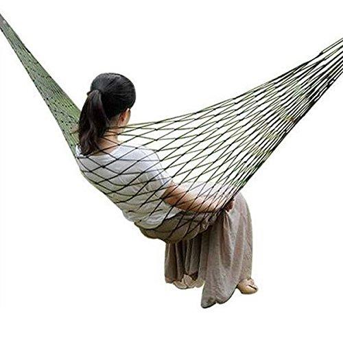 Moppi Outdoor Reisen Camping 200 x 80cm Hängematte Nylon Ineinander greifen Netz Schlafenbett