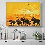 KWzEQ Imprimir en Lienzo Cartel de Elefante africanomoderno y decoración para Arte de pared30x45cmPintura sin Marco