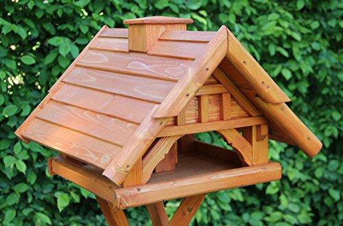 Garten und Holztrends Vogelhaus-Vogelhäuser Vogelfutterhaus Vogelhäuschen-aus Holz-Nistkasten-Schreinerarbeit-Vogelhausständer (Vogelhaus V57)
