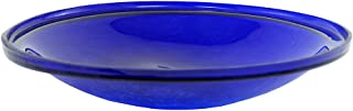 Achla Designs Crackle Glass Bowl, 14-in, Cobalt Blue