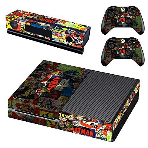 Mapa de pegatinas de piel de Batman, adecuado para consola Xbox One y 2 controladores, adecuado para pegatinas de piel Xbox One