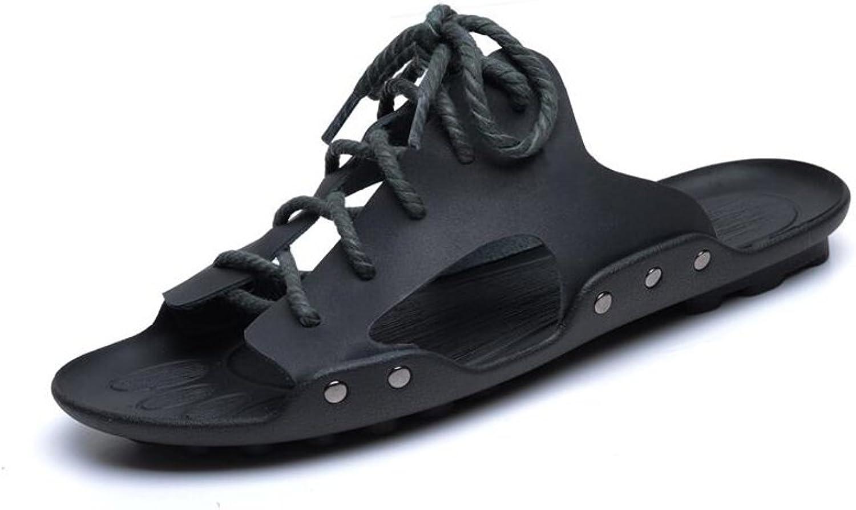 MuMa Men's Casual Flip Flops Slippers - Comfortable Lightweight Thongs Sandals (color   2, Size   EU41 UK7.5-8 CN42)
