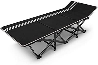 YGLight Sun Bed Folding Bed Camping Chairs for Heavy People Folding Outdoor Garden Patio Lawn Chairs Metal Chaise Lounge Chai