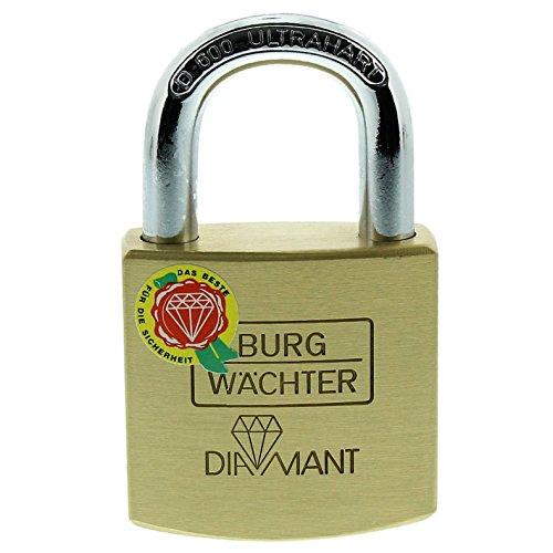 Burg-Wächter Vorhängeschloss, Diamant D 600 40 SB, inkl. 2 Schlüssel, Bügelstärke: 7,5 mm