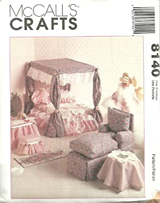 """Doll Furniture For 11 1/2"""" - 12 1/2"""" Fashion Dolls McCall's Crafts Sewing Pattern 8140"""