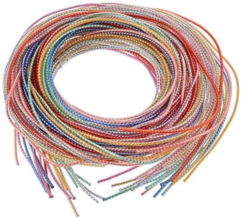 Glorex Colour Strips metallic 20St 100cm lang, 10 Fb. Sortiert, Verschiedenes, Mehrfarbig, 19 x 11.5 x 1 cm