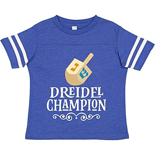 inktastic Hanukkah Dreidel Toddler T-Shirt 2T Football Blue and White 2d56b