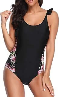 Sexy One Piece Swimsuits for Women Floral Backless Swimsuit Push-Up Padded Bra Beach Halter Bikini Swimwear