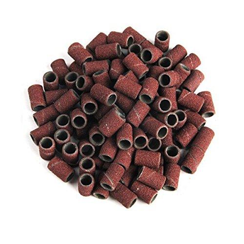 Bande di levigatura 100pcs per Nail Drill 180 Manicure utensili montati teste di molatura cilindrica
