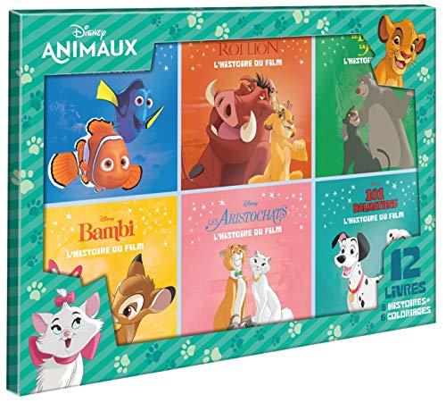 Coffret 12 livres - 6 Histoires + 6 Coloriages : Dinsey animaux