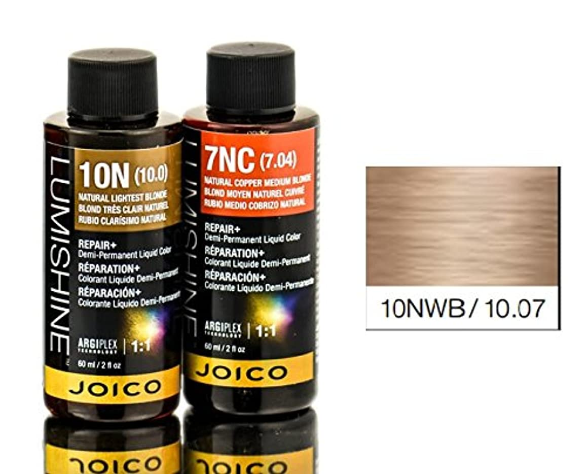 質素な被害者無視できるJoico Lumishineデミパーマネント液体色、10nwb / 10.07、 2オンス
