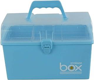 Rinboat Caja Botiquin de Almacenamiento de Plástico con Cerradura para Primeros Auxilios y Medicamentos, Color Azul, 1 Unidad