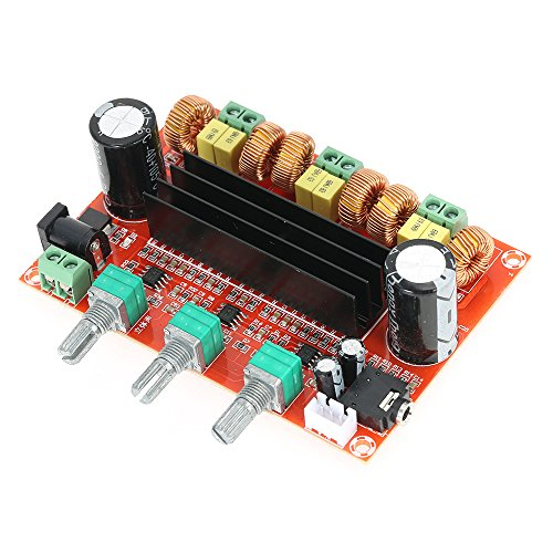 KKmoon TPA3116D2 50W x 2 + 100W 2.1 Kanal Digital Subwoofer Audioverstärker-Brett Leistungsverstärker Brett DC12V-24V