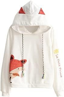 Cosplay Anime Fox Emo Girls Sweater Hoodie Ears Costume Emo Jacket T Shirt Top Shirt