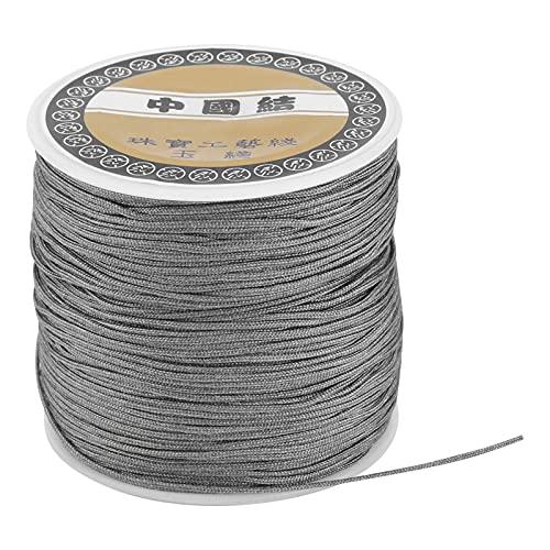 Cordón de hilo de nailon de 0,8 mm, cordón de nailon de 0,8 mm, cordón de nudo DIY para tejer DIY, nudo chino, correas de mano, cuentas de hilo