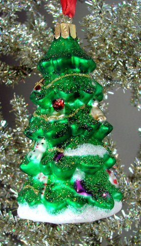 Waterford Holiday Heirlooms Decorated Christmas Tree Ornament with Glitter #153721 by Waterford