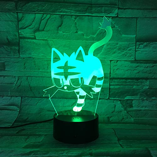 Estatua Buda 3D luz Noche USB luz sueño 3AA batería