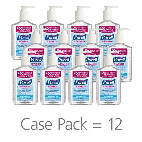 PURELL Advanced Hand Sanitizer, Refreshing Gel, 8 fl oz Hand Sanitizer Counter Top Pump Bottles...