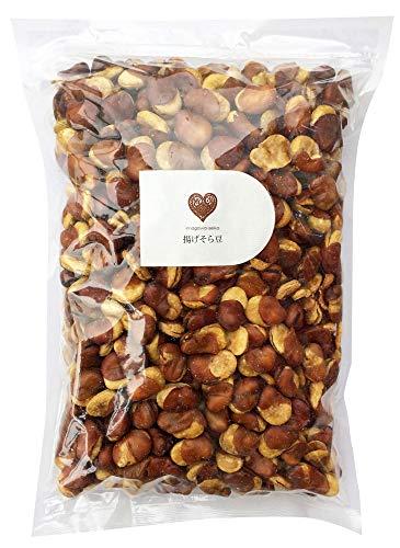 揚げそら豆(無選別)1kg 国内加工 オーストラリア産 大粒そら豆使用 フライビーンズ いかり豆 花豆 業務用