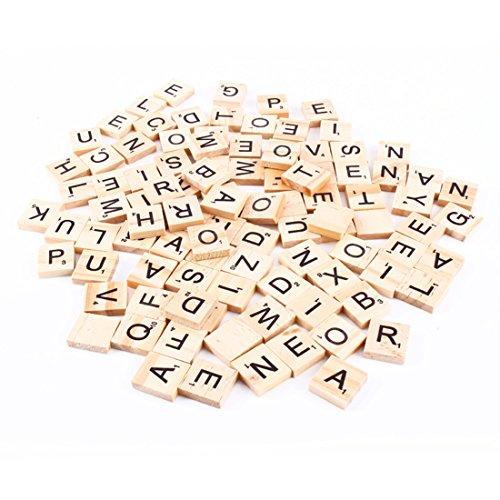 BestMall Scrabble-Buchstabensteine, Zahlen Buchstaben, 100