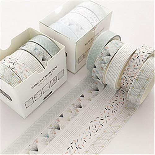 Washi Tape,10 Rolls Washi Masking Tape Dekorative Klebeband für Scrapbooking DIY Handwerk (G-2pcs)