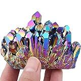 ZTTT Arcobaleno Verniciato in Titanio Aura di Quarzo Cristallo Cristallo Druzy Gem Stone Specimen Sfigurine Decorazione della casa