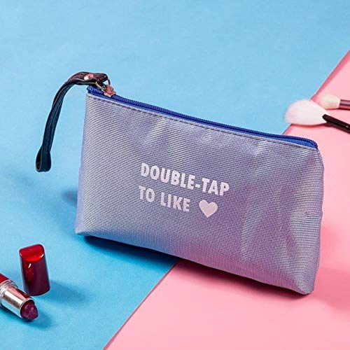 POMU Kosmetiktasche mit Buchstabendruck, mit Reißverschluss, modisch, Make-up-Tasche, Reise-Organizer 6000-5