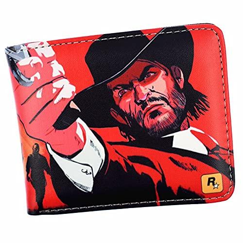 Portefeuille Porte-Monnaie Court Game Red Dead Redemption 2 pour Homme avec Poche À Monnaie