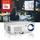 EUG WXGA LCD 1080P Projector Home Theater, 4400 Lumen LED Inside Outside Movie...