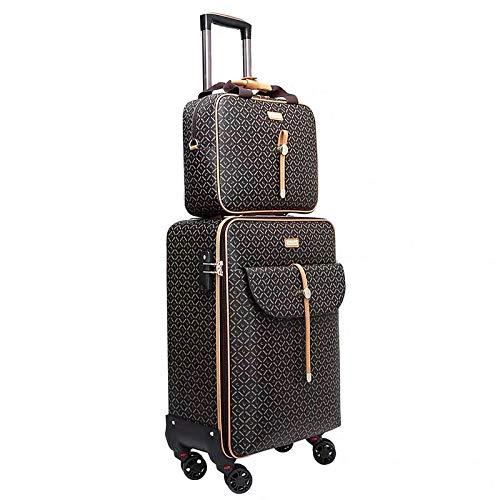 Internationale Mode Luxus 16/20/24 Zoll Handtasche + Rolling Maleta Spinner Marke Frau Reisekoffer-Gepäck und Handtasche_16