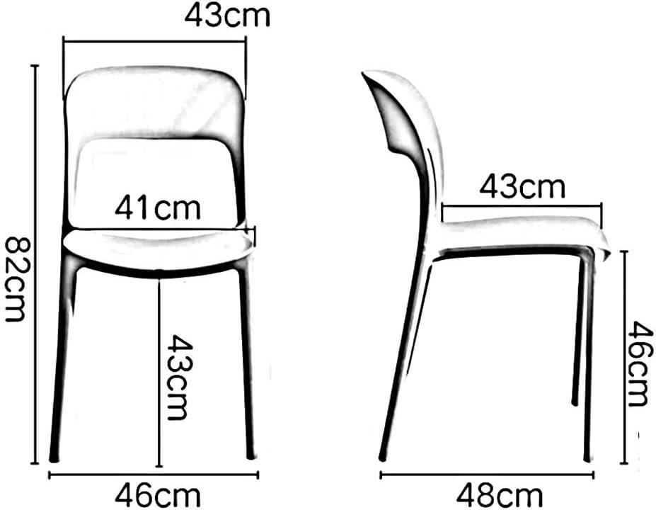 QNN Chaise de Salle À Manger À Domicile Chaise de Réunion de Salon de Bureau,Noir Gris