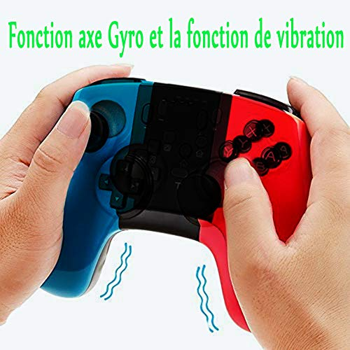 YFish Controller für Nintendo Switch Pro, kabellos, Bluetooth, mit Dual Vibration, Turbo, Gamepad Joysticks, robust, kabellos für Nintendo PC Switch