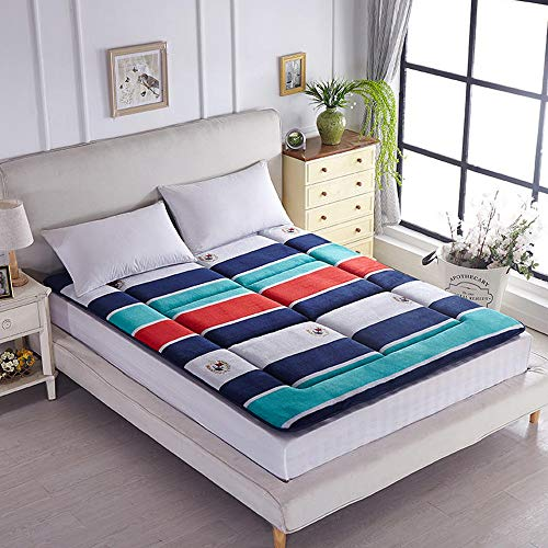 GFYL Falaise matras, verdikt 4 cm dik matras, opvouwbaar Tatami matras, studentenslaapzaal 1 tweepersoonsbed Futon slaapkamer niche slaapmat