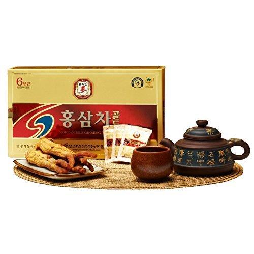 Pocheon Korean Red Ginseng Extract Tea Gold 300g(3g x 100p), Ginseng Extract 15% 6Years old Ginseng Root of Panax ginseng C.A Meyer by Pocheon Ginseng Farmers Associate