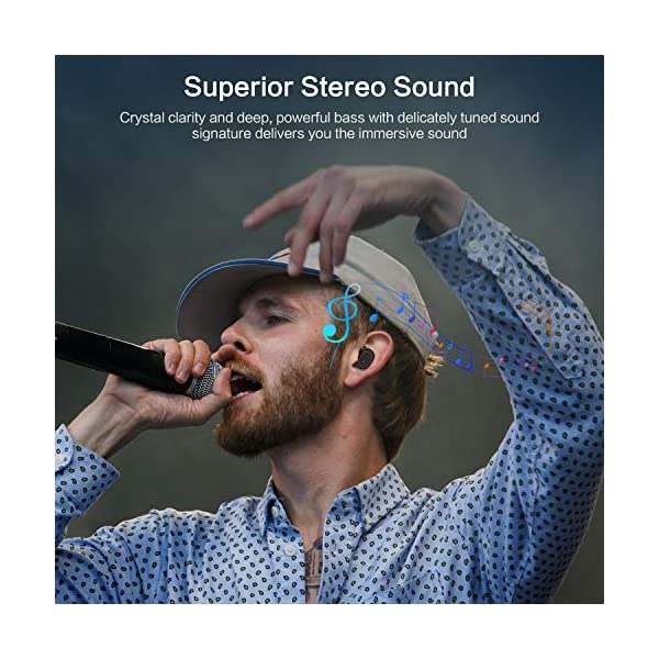 bakibo-Auriculares-Inalmbricos-Bluetooth-51-Emparejamiento-Automtico-TWS-Deporte-Micrfono-Auriculares-con-LCD-Estuche-de-Carga-3100mah-120-Horas-de-Duracin-Control-Tctil-para-Correr