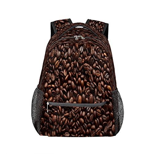 Zaino in grani di caffè tostato durevole zaino per computer portatile resistente all'acqua College Scuola Computer Bag Viaggi Escursionismo Campeggio Daypack Borsa a tracolla per donne uomini