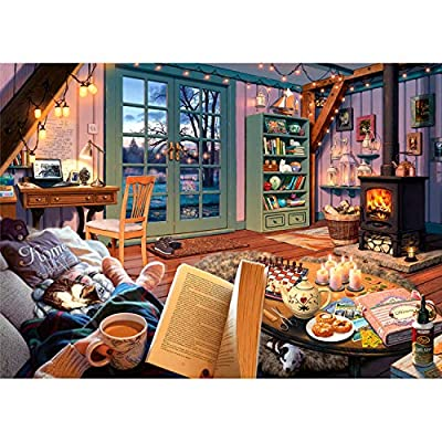 Ravensburger Cozy Retreat 500 Piece Large Format Jigsaw Puzzle for Adults - Every Piece is Unique, Softclick Technology Means Pieces Fit Together Perfectly from Ravensburger