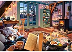 Ravensburger Cozy Retreat 500 Piece Large Format Jigsaw Puzzle for Adults - Every Piece is Unique, Softclick Technology Means Pieces Fit Together Perfectly