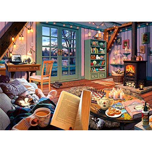 Ravensburger Cozy Retreat 500 Piece Large Format Jigsaw Puzzle for Adults - Every Piece is Unique, Softclick Technology Means Pieces Fit Together Perfectly, Multi, 27