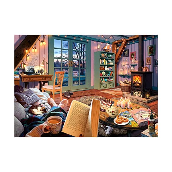 Ravensburger Cozy Retreat 500 Piece Large Format Jigsaw Puzzle for Adults –...