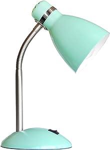 Schreibtischleuchte aus Metall mint grün 1 flammig flexibler Arm Schalter (Schreibtischlampe, Nachttischleuchte, Nachttischlampe, Tischleuchte, Tischlampe, Höhe 35 cm, Fassung E27)