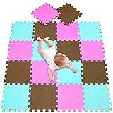 meiqicool Tappeto Puzzle Bambini 142 x 114 cm Gomma Eva Resistente Isolante Lavabile Gioco...