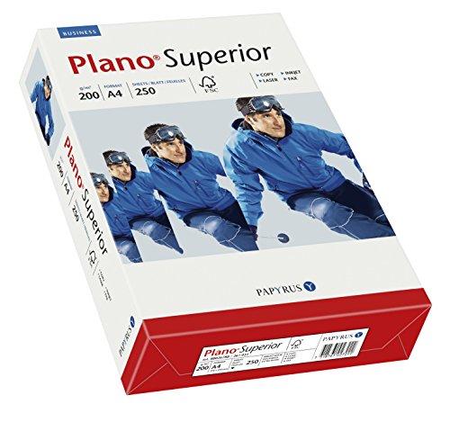 Papyrus 88026788 Druckerpapier Premium: PlanoSuperior 200 g/m², A4 250 Blatt, hochweiß / Nachfolger – tecno Superior