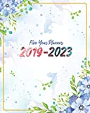 2019-2023 Five Year Planner: Watercolor Floral Cover 60 Months Calendar Planner Agenda And Organizer 8' x 10' with holidays