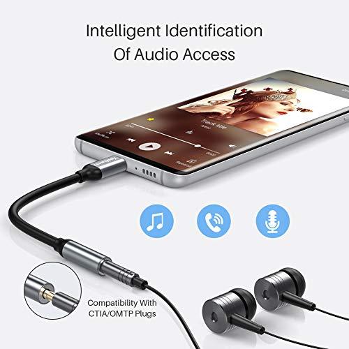 yootech USB C auf 3.5mm Kopfhörer Adapter, USB-C auf Klinken Headset Audio Adapter für Aux, Stereo, Headset, MacBook, Samsung S20/S20 Plus/Note 10/A80, iPad Pro, Huawei P30 Pro/P20/P20 Pro usw