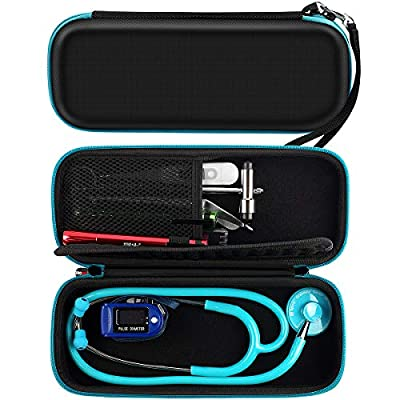 Stethoscope Case fits 3M Littmann Classic Stethoscopes, MDF Acoustica Deluxe Lightweight Dual Head Stethoscope - Mesh Pocket for Accessories Inside (Black Edition) from Comecase
